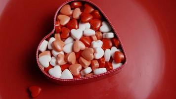 Rotating stock footage shot of Valentine's Day candy - VALENTINES 002