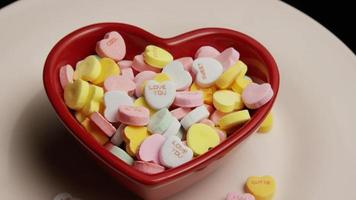 Rotating stock footage shot of Valentine's Day candy - VALENTINES 011