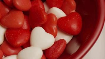 Rotating stock footage shot of Valentine's Day candy - VALENTINES 023