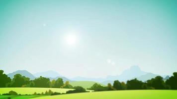 clipe de fundo de paisagem campestre video