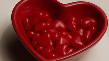 Rotating stock footage shot of Valentine's Day candy - VALENTINES 029