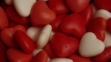 Rotating stock footage shot of Valentine's Day candy - VALENTINES 022