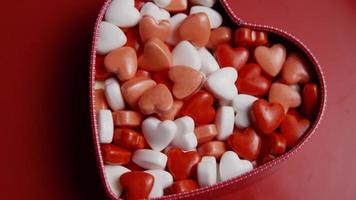 Rotating stock footage shot of Valentine's Day candy - VALENTINES 003 video
