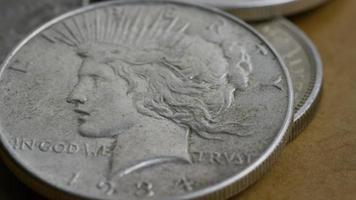 Imágenes de archivo giratorias tomadas de monedas americanas antiguas - dinero 0094