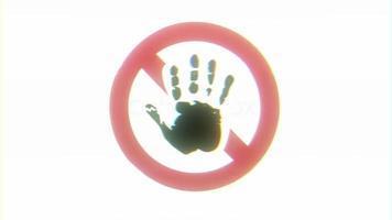 segnale di stop glitch sfondo video
