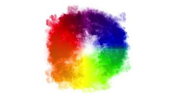 Fondo de humo de onda de choque multicolor abstracto video