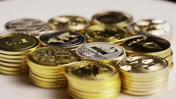 Tir tournant de bitcoins (crypto-monnaie numérique) - bitcoin mixte 032