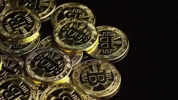 Rotating shot of Bitcoins (digital cryptocurrency) - BITCOIN 0543 video