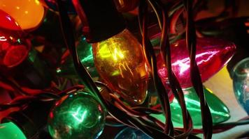Plano cinematográfico giratorio de luces navideñas ornamentales - navidad 054