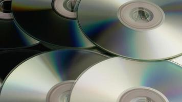 Rotating shot of compact discs - CDs 045