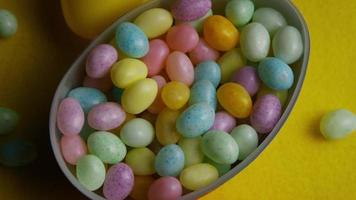 Rotating shot of colorful Easter jelly beans - EASTER 068