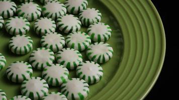 Tiro giratorio de caramelos duros de menta verde - candy spearmint 028