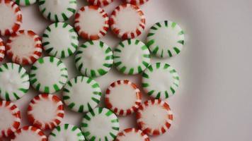 colpo rotante di caramelle dure alla menta verde - caramelle alla menta verde 059