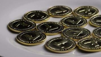 colpo rotante di bitcoin litecoin (criptovaluta digitale) - bitcoin litecoin 0013