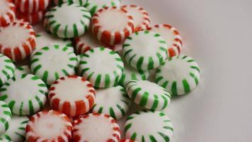 colpo rotante di caramelle dure alla menta verde - caramelle alla menta verde 081