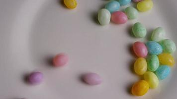 Rotating shot of colorful Easter jelly beans - EASTER 108