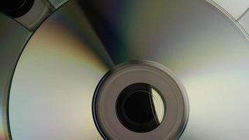 Rotating shot of compact discs - CDs 005