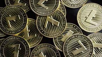 Rotating shot of Bitcoins (digital cryptocurrency) - BITCOIN LITECOIN 228