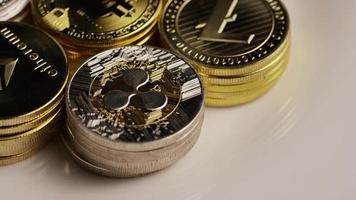 Tiro giratorio de bitcoins (criptomoneda digital) - bitcoin mixto 020