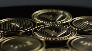 Rotating shot of Bitcoins (digital cryptocurrency) - BITCOIN LITECOIN 299