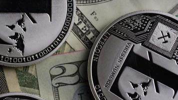 Rotating shot of Bitcoins (digital cryptocurrency) - BITCOIN LITECOIN 633