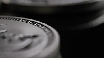 Rotating shot of Bitcoins (digital cryptocurrency) - BITCOIN LITECOIN 469