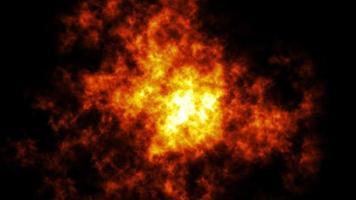 bucle de fondo de textura de humo de fuego
