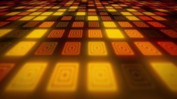 Fundo abstrato mosaico de padrões brilhantes em 3D video