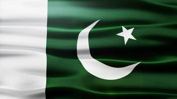 volta da bandeira do Paquistão