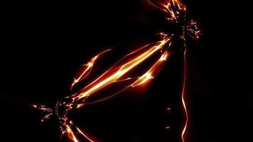acción de la electricidad y el efecto de la energía del campo de fuerza video