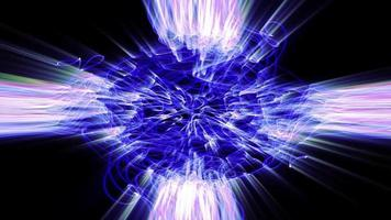 le forme d'onda della luce frattale si increspano e brillano video