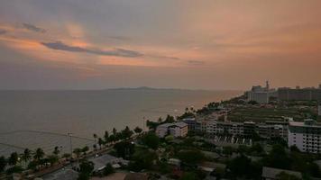 Pattaya city at night in Thailand