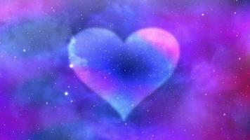 loop colorido do fundo do símbolo do coração video