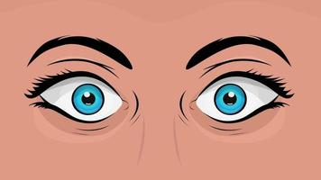 BD yeux de femme regardant avec surprise video