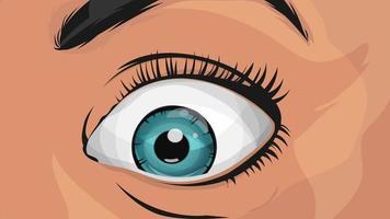 BD yeux de femme regardant avec surprise