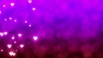 videoclipe de fundo de dia dos namorados com corações rosa