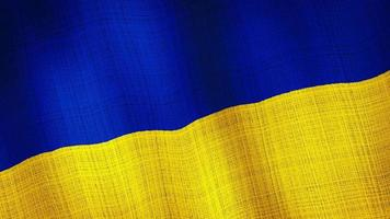 Ukraine flag waving, A flag animation background.