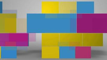abstrakte farbige ebene Quadrate Hintergrund video