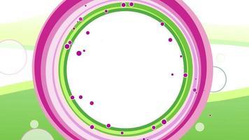 fundo de círculos com loop de animação