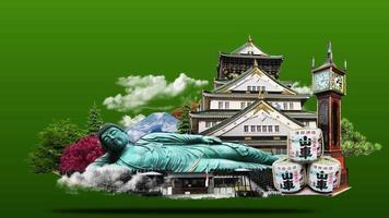 animation de symboles japonais video
