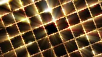 fondo de cuadrícula dorada giratoria