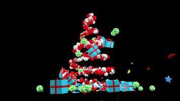 árvore de natal girando