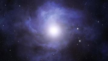 erupción de energía en el espacio exterior