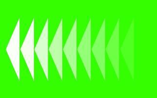 linea del triangolo ottuso dissolvenza lenta su uno schermo verde