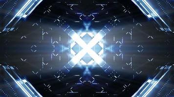 diseño futurista y efectos de luz. video