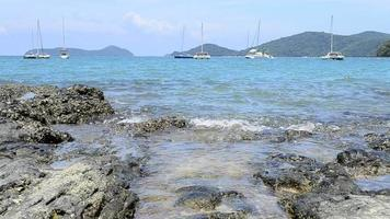 Ao Yon Bay with clear water and yachts during summer video