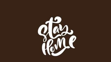 Stay Home Logo Animation