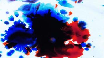 tinta abstrata caindo no branco video