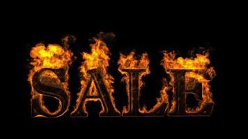 venta en concepto de fuego