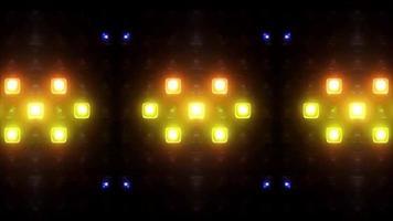 kleurrijke vierkante dansende lichten op een zwarte achtergrond